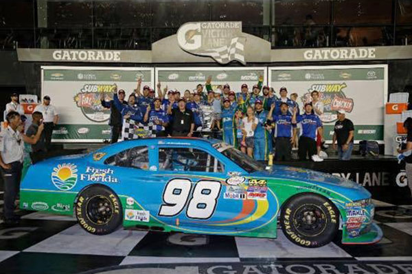 Aric Almirola wins at Daytona